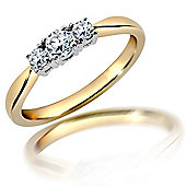 18 Carat Yellow Gold 25pts 3 Stone Ring