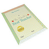 Best Teacher Certificate