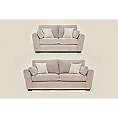 Sofia 3+2 Sofa Set SIlver