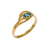 QP Jewellers 0.30ct Blue Topaz Pear Strand Ring in 14K Rose Gold