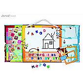 Janod Triptik 2 in 1 Magnetic Board & Whiteboard Clock Planner