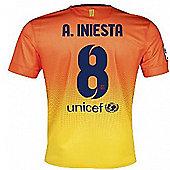 2012-13 Barcelona Nike Away Shirt (A.Iniesta 8) - Kids - Orange