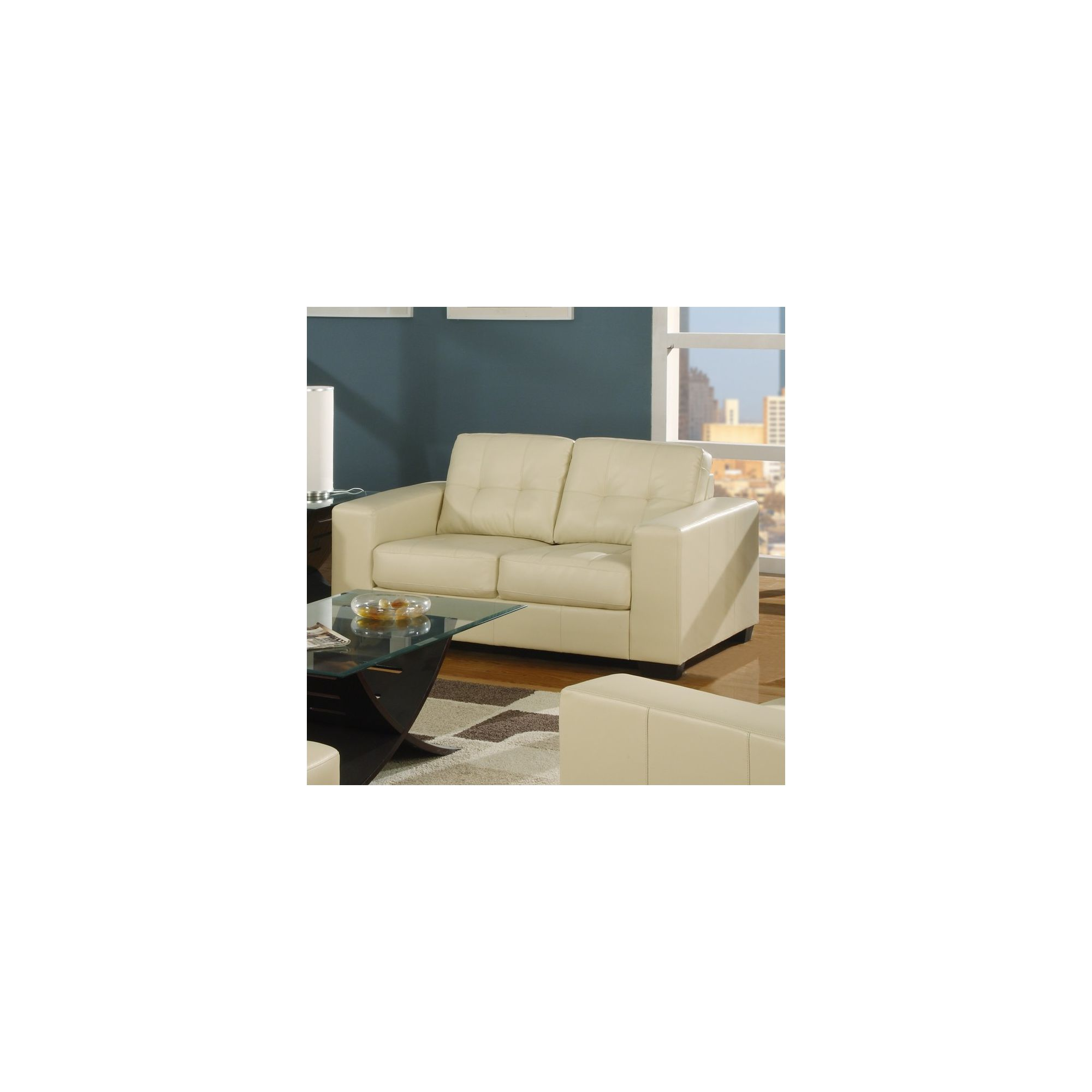 Furniture Link Gemona 2 Seater Sofa - Ivory at Tesco Direct