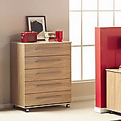 Ideal Furniture Bobby Five Drawer Chest - Oak