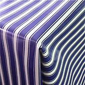 Blue Stripes 300cm x 135cm Oilcloth Tablecloth