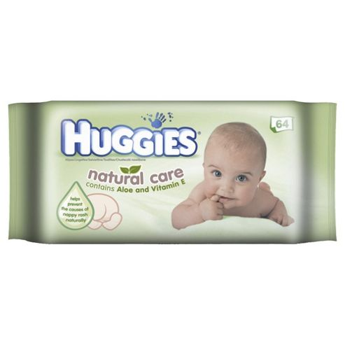 Huggies Natural Care Baby Wipes - 64 wipes