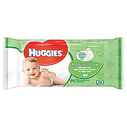 Huggies Baby Wipes Natural Care 1x56