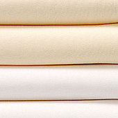 bed-e-byes Plain Flat Sheets 2 Pack - Cream