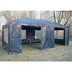AirWave Party Tent Marquee Fully Waterproof With Wind Bars (Blue)