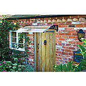 Greenhurst Plastic Door Canopy Black