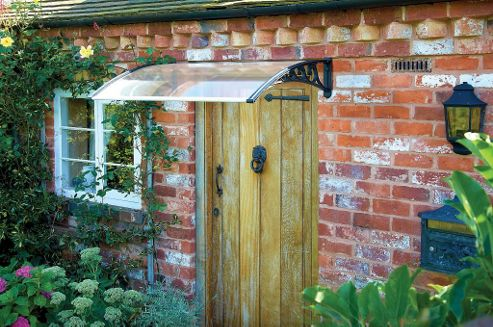 Greenhurst Plastic Door Canopy Black