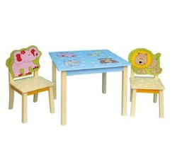 First Baby Safety Animals Table and Chair Set
