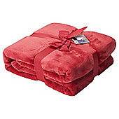 Red Super Soft Fleece Throw