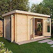 13ft x 8ft (4m x 2.5m) Log Cabin (Single Glazing) 44mm T&G