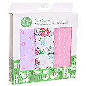 Zippy Muslin Squares in Pretty Pastels (3 Pack, Gift Set)