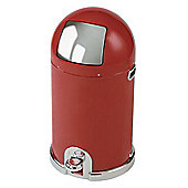 Typhoon 33L Capsule Enamel Kitchen Bin in Red