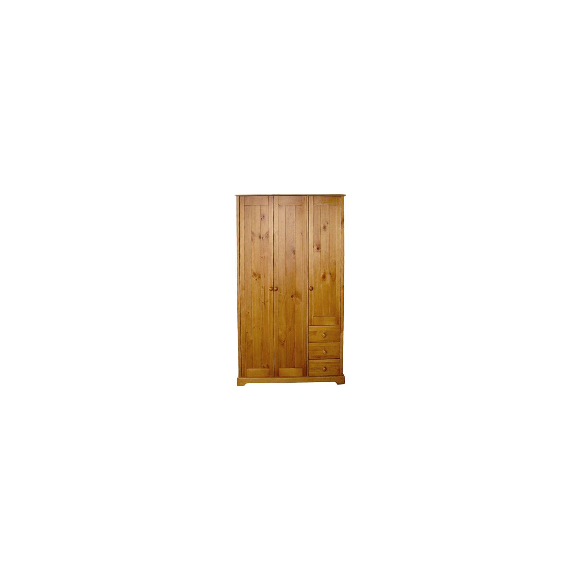 Home Zone Atlantic Three Door Wardrobe in Vintage Pine at Tesco Direct