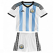 2014-15 Argentina Home World Cup Mini Kit - White