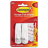 3M Reusable Command Adhesive Strip Hooks medium 17001