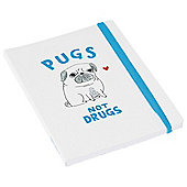 "Pickle Parade ""Pugs Not Drugs"" A5 Notebook"