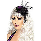 Black & Purple Fascinator