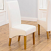 Mark Harris Furniture Venice Oak Dining Chair (Set of 2) - Ivory