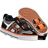 Heelys Bolt Black/Silver/Orange/White Heely Shoe - Orange