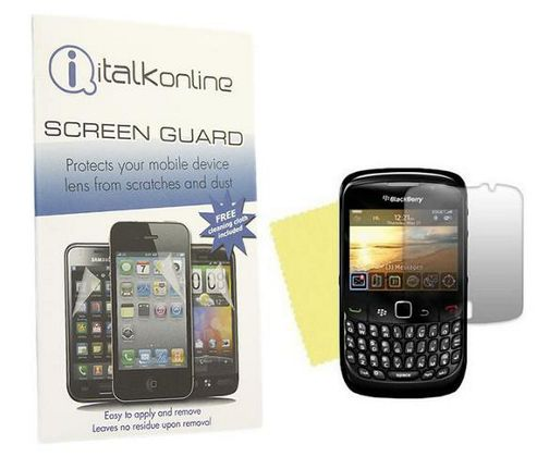 iTALKonline S-Protect LCD Screen Protector and Cleaning Cloth - For BlackBerry 8520 Curve