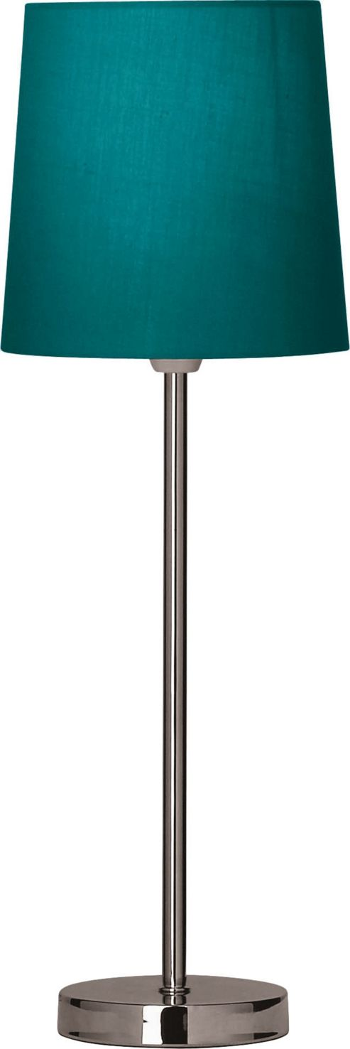 The Lighting & Interiors Group Tall Stick Table Lamp - Teal - Teal Cotton