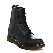 Dr. Martens Mens Womens Black 1460 Smooth Leather Ankle Boots - Black