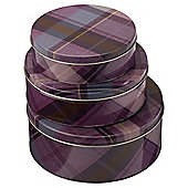 Dolland And Devaux 3-piece Cake Tin Set, Tweed