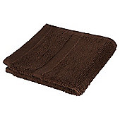 Tesco 100% Combed Cotton Face Cloth Chocolate