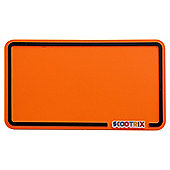 Scootrix Ride-On Number Plate, Neon Orange