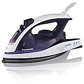 Panasonic NI-W900CVXC Ceramic Plate Steam Iron - Voilet & White