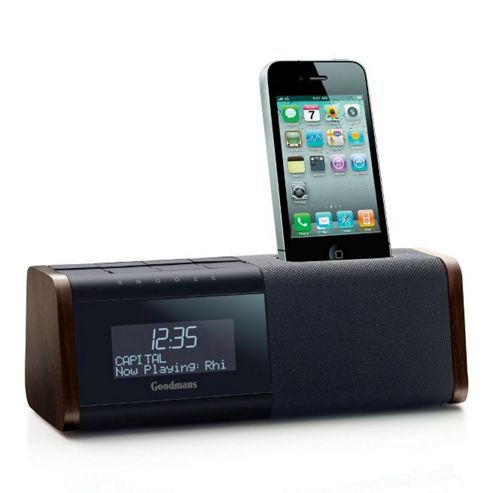 buy goodmans dab radio ipod iphone docking station from our all speakers range tesco. Black Bedroom Furniture Sets. Home Design Ideas