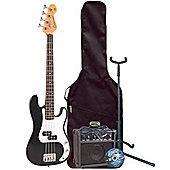 Encore E20 Black 7/8 Kids Bass Pack