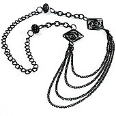 Long Floral Filigree Multi-Chain Necklace