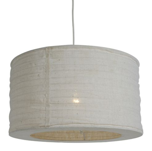 Lighting In:Style Jute Wire Ribbed Hanging Shade in White
