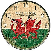 Smith & Taylor Welsh Dragon Round Wall Clock