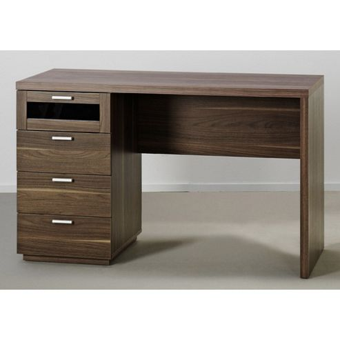 Buy tvilum new york office desk in dark walnut from our office desks tables range tesco - Tesco office desk ...