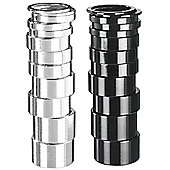 1 1/8' Alloy Spacers - 2mm Silver