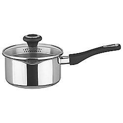 Prestige 16cm Saucepan with Glass Straining Lid