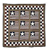 Woven Magic Star and Stripes Patriotic Plaids Crib Throw
