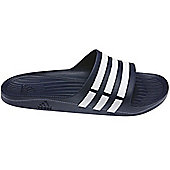adidas Duramo Slide Mens Flip Flop Sandal Navy Blue - Blue