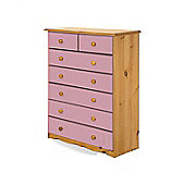 Verona Verona 2 Over 5 Drawer Chest - Pink