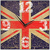 Smith & Taylor Union Jack Vintage Square Wall Clock