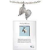 Lily Charmed Maid of Honour Silver Wings Necklace
