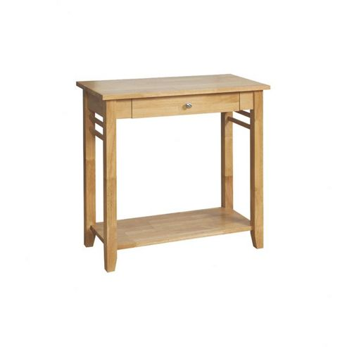 Elements Athens Oak Console Table