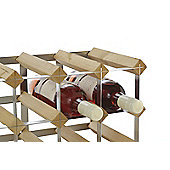 Traditional Winerack Co Pre- Assembled Wine Rack - 12 Bottles - Dark Oak