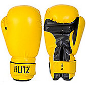 Blitz - Kids PU Boxing Gloves - Yellow